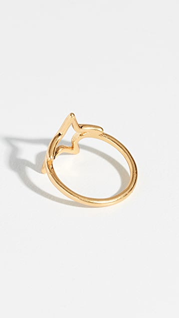 Madewell Open Star Ring