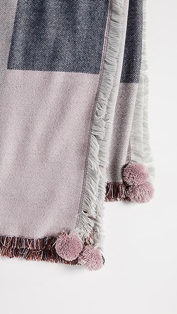 Madewell Pom Pom Blanket Scarf