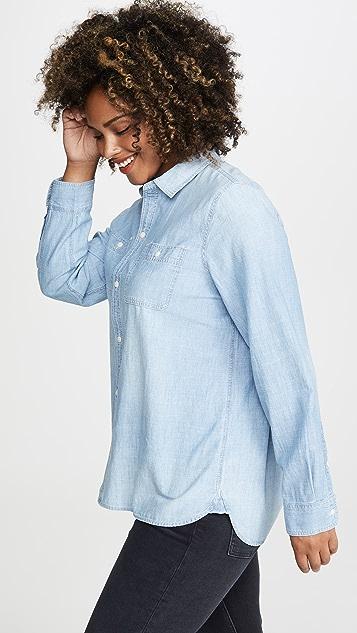 Madewell Классическая рубашка с пуговицами Ex BF из ткани шамбре