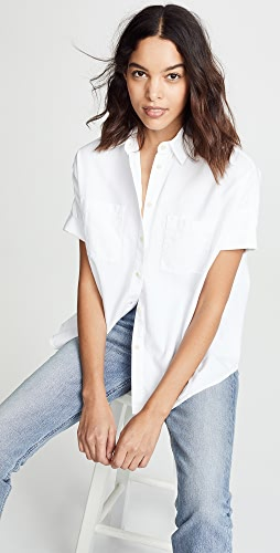 Madewell - White Cotton Courier Shirt