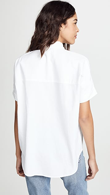 Madewell Рубашка Courier из белого хлопка