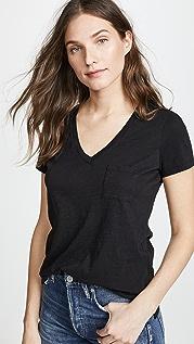Madewell Whisper 棉 V 领口袋 T 恤