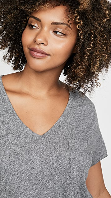 Madewell Whisper 棉质 V 领口袋 T 恤