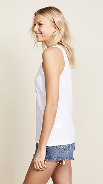 Madewell Whisper Cotton V Neck Pocket Tank