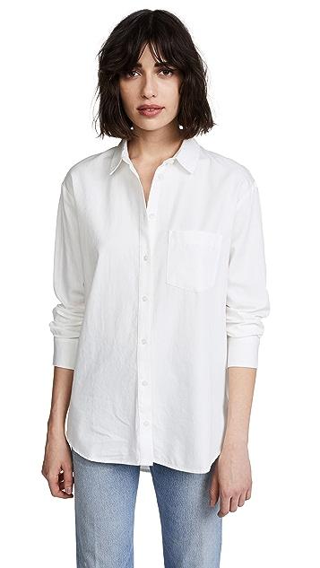 Madewell Свободная рубашка в мужском стиле с драпировкой