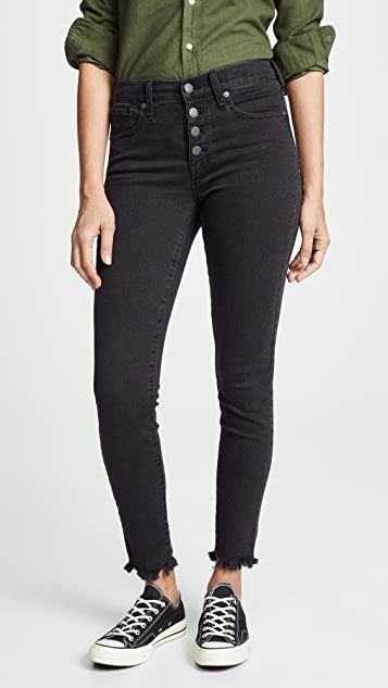 Madewell High Rise Skinny Jeans with Button Fly