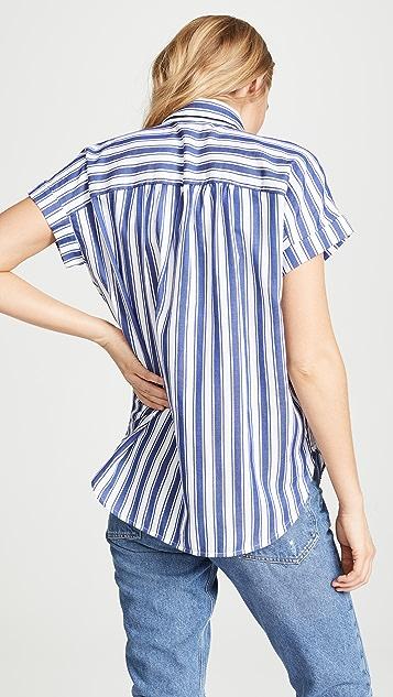 Madewell Рубашка Central в полоску
