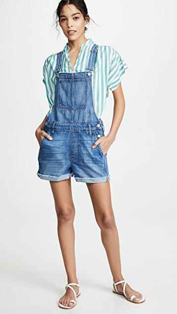 Madewell Adirondack Short Overalls in Denville Wash