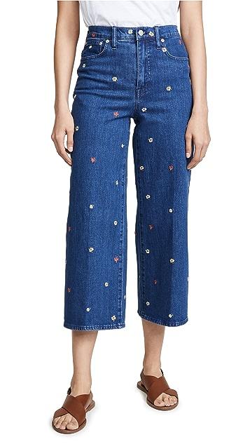 Madewell Широкие джинсы Confetti с цветочным принтом