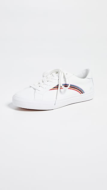 Madewell Women's Sidewalk Low-Top Sneakers in Rainbow Embroidered Canvas
