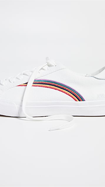 a913516ffed43b ... Madewell Women s Sidewalk Low-Top Sneakers in Rainbow Embroidered Canvas  ...