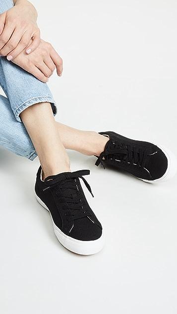Madewell Женские кроссовки с низким берцем из холщовой ткани