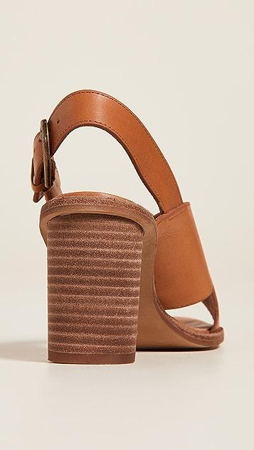 Madewell The Ruthie 交叉皮革凉鞋