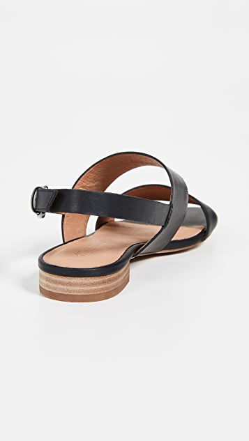 Madewell The Elena Slingback Sandals