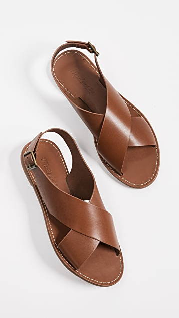 Madewell Boardwalk Crossover Sandals