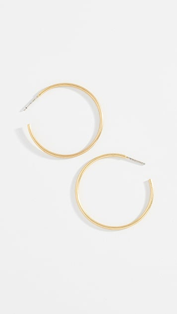 Madewell Basic Medium Hoop Earrings