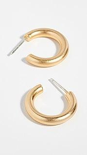 Madewell Chunky Small Hoop Earrings