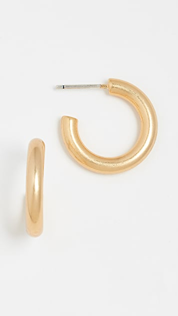 Madewell Chunky Small Hoop Earrings