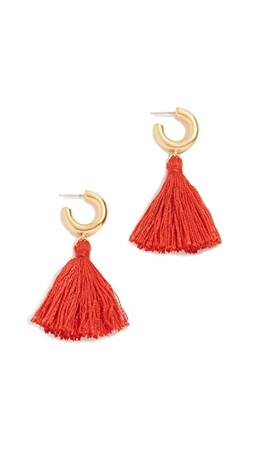 Madewell Lantern Tassel Earrings