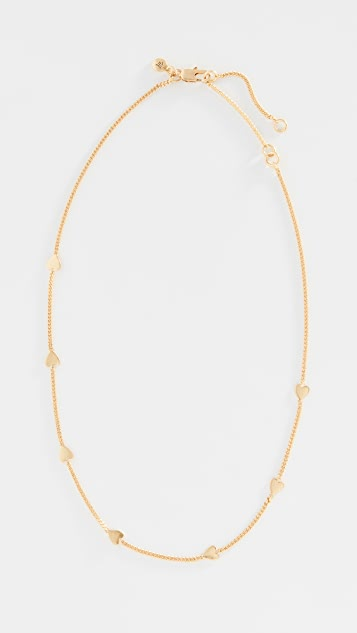 Madewell Heartstrings Choker Necklace - Vintage Gold