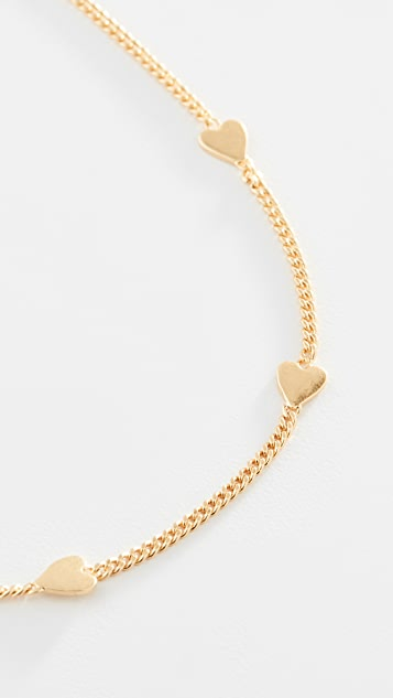 Madewell Delicate Heart Necklace