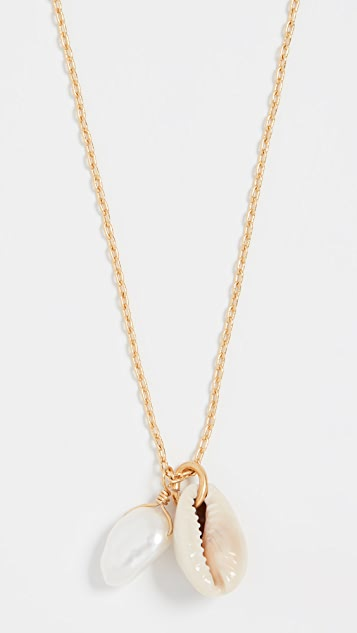 Madewell Shell Charm Layer Necklace