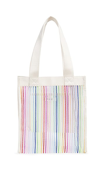 Madewell The Netting Tote Bag in Rainbow Stripe