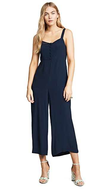 Madewell Button-Front Wide-Leg Jumpsuit