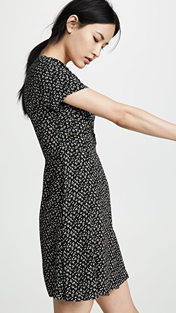 Madewell Button-Wrap Dress in Playground Posies