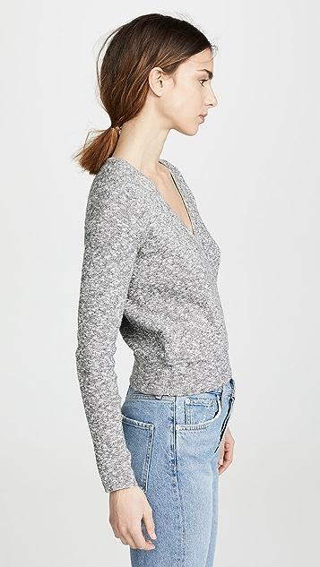 Madewell Пуловер с запахом спереди