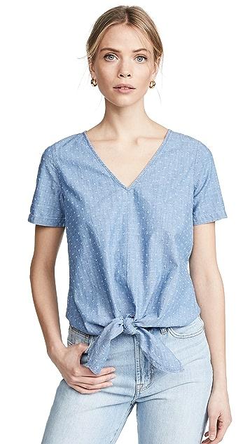 Madewell Блуза с завязками спереди