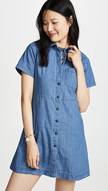 Madewell Fit and Flare Shirtdress