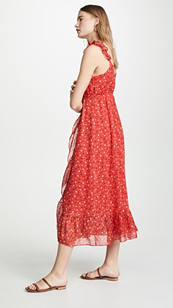 Madewell Ruffle Wrap Dress