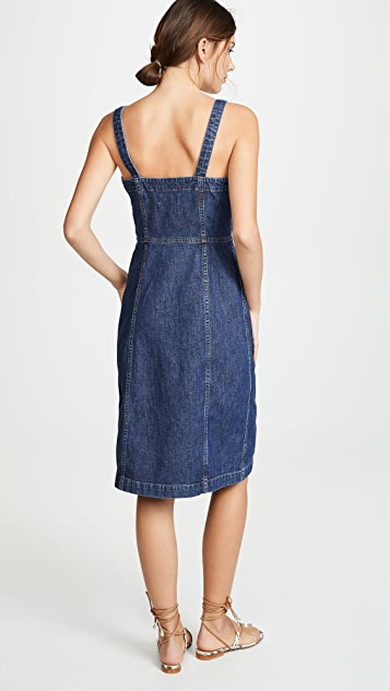 Madewell Denim Button Front Tank Dress