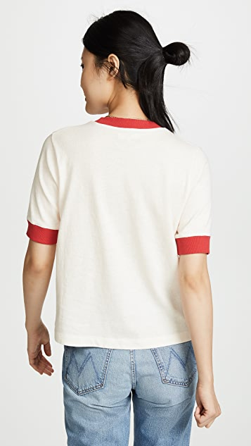 Madewell Sister Graphic Relaxed Ringer Tee