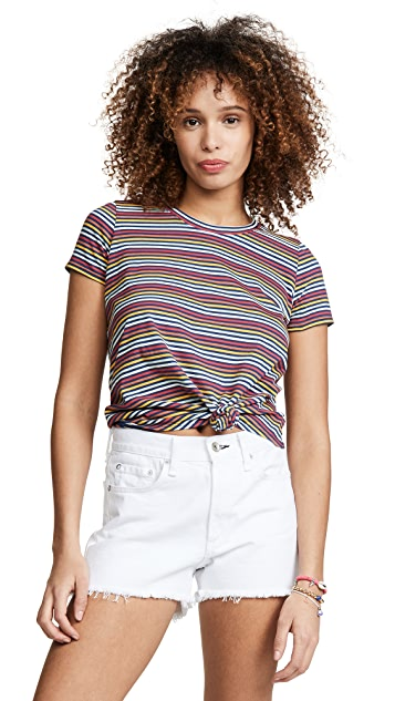Madewell Striped Rena Knot Front Tee