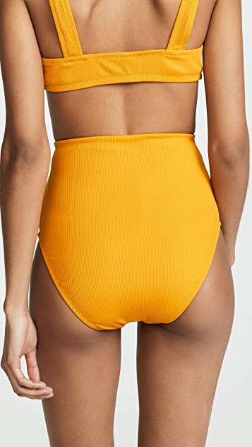 Madewell Second Wave Ribbed High-Waisted Bikini Bottoms