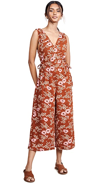 Madewell Waikiki Cover Up Jumpsuit in Hillside Daisies