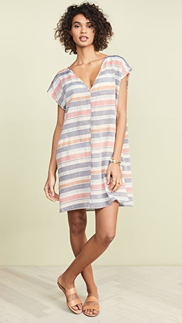 Madewell Cover Up Tunic Dress in Towel Stripe