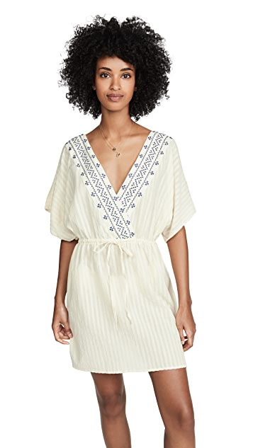 Madewell Embroidered Tie Back Cover-Up Dress