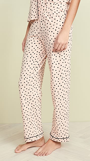 Madewell Knit Bedtime Pajama Set in Painted Hearts