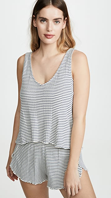 Madewell Ribbed Knit Pajama Tank Top in Stripe