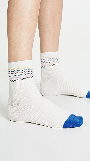 Madewell Rainbow Zigzag Ankle Socks