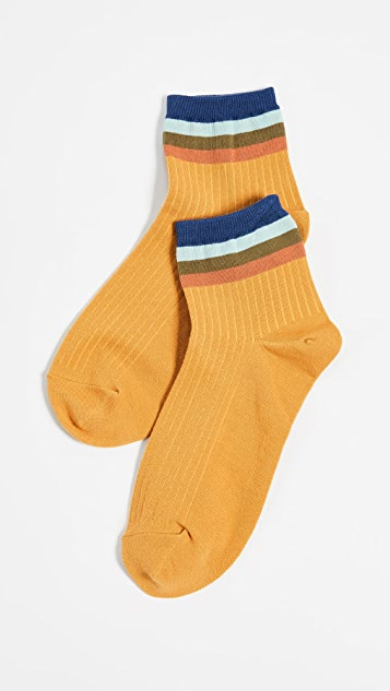 Madewell Rainbow Stripe Ankle Socks