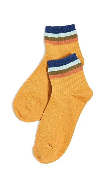 Madewell Rainbow Stripe Ankle Socks