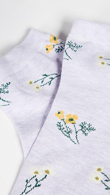 Madewell Daisy Sketch Anklet Socks
