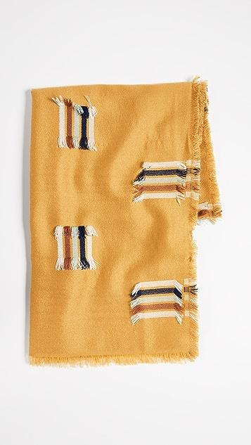 Madewell Rainbow Fringe-Stripe Jacquard Scarf
