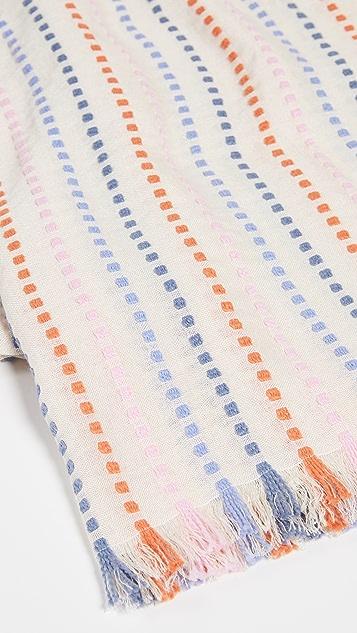 Madewell Stitched Rainbow Stripe Scarf