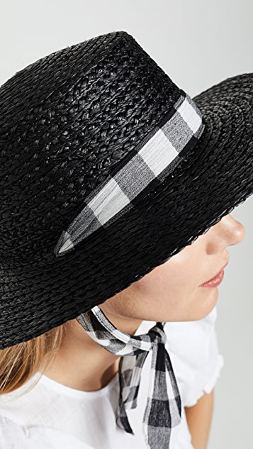 Madewell Stampede Strap Straw Boater Hat