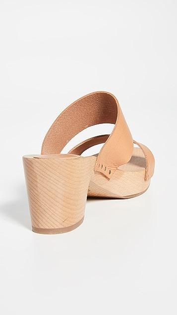 Madewell The Clara 木底凉鞋